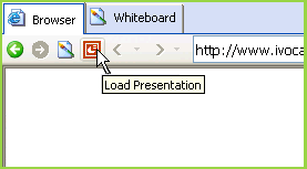 Load a PowerPoint or OpenDocument presentation from the iVocalize embedded browser